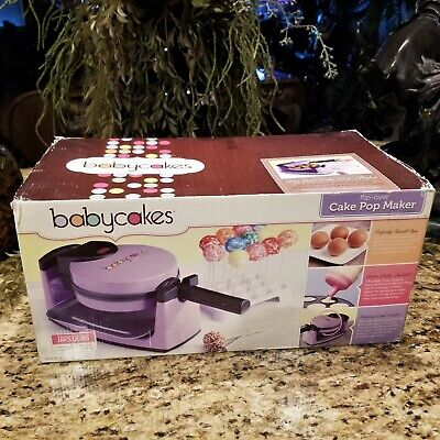 NEW Babycakes Flip Over Cake Pop Maker Purple with Manuals and Accessories