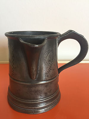 Zinnkrug | Pewter Tankard Jug | Pint | pers. Widmung | um 1840 | Great Britain