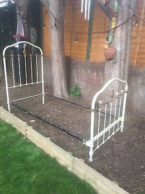 Antique French Iron Bed Frame Two Available