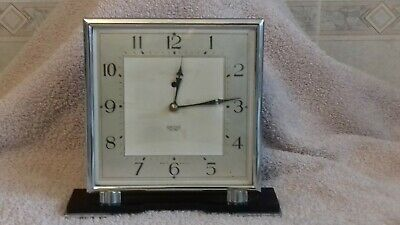 FOR RESTORATION - SMITHS SECTRIC ART DECO / BAKELITE MANTLE CLOCK c.1940