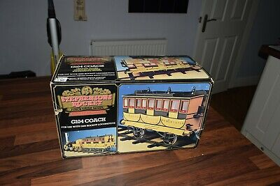 "HORNBY G104 COACH FOR  STEPHENSONS ROCKET 3.5"" GAUGE boxed excellent no4"