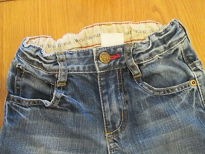 Mini Boden Boys Jeans Age 5 Distressed Vintage Look Adjustable Waist Great Cond
