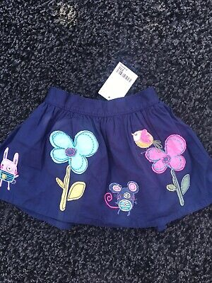 Next Sweet Pea 6-9 Months Skirt Summer Mouse Embroidered
