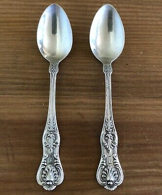 2 Black Starr & Frost STERLING Silver Baby/Sugar Spoons! W/Mono 24.2g LOOK!