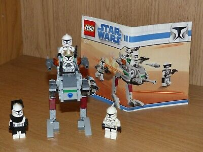 Lego STAR WARS 8014 – Clone Walker Battle Pack – Complet + Notice – Comme neuf