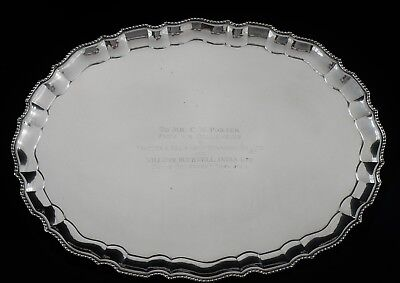 Large Indian Silver Drinks Tray, Mid 20th Century