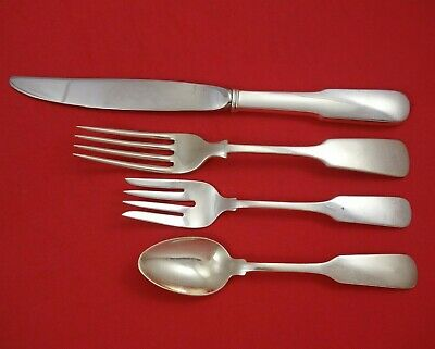 Old English Tipt by Gorham Sterling Silver Dinner Size Place Setting(s) 4pc
