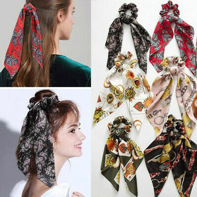 Scrunchie Women Ponytail Holder Elastic Hair Band Bow Hair Ties Rope Accessories