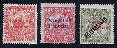 Hungary 1919 French Occupation Issues SG1x2, SG45 unmounted mint