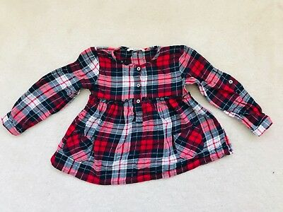 Girls Red and Navy Checked Top Age 3-4 Years from George