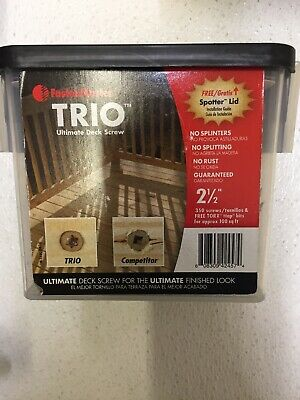"Trio Screw 2.5""Tan 350pc Pack 1"