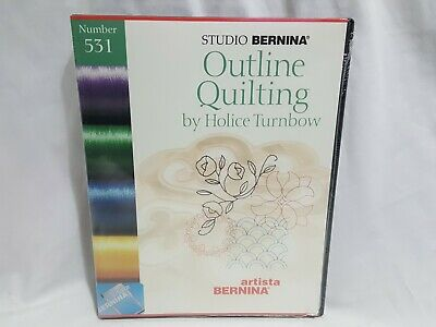NEW Studio Bernina # 531 Outline Quilting SEALED Embroidery Card + More Turnbow