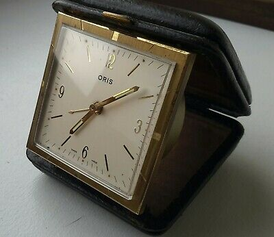 ORIS watches Superb 17 Jewels SWISS MADE Vintage Bedside/Travel Alarm Clock