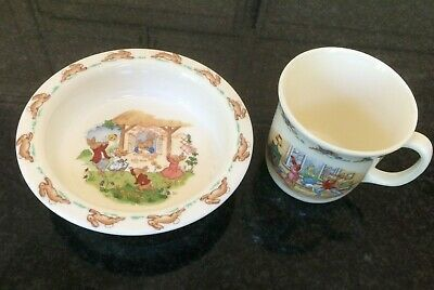 Royal Doulton Bunnykins English Fine Bone China Cereal/Soup Bowl and Cup