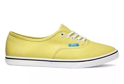 12c0a8b9527840 New Vans Mens 3.5 Womens 5 Unisex Authentic Lo Pro Pop Yellow Cyan Blue  Sneakers