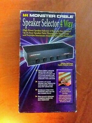 Monster Cable 4 way Speaker Switching Box