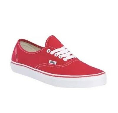 fb68280ecd New Vans AUTHENTIC Lite Mens 3.5 Womens 5 Canvas Red Athletic Sneakers Shoes