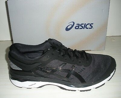Asics Mens Gel-Kayano 24 Running Sneakers-Shoes-T749N-9016-Black/ Phantom/ White
