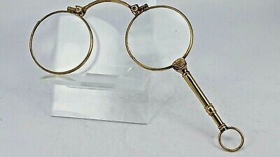 french gold guilded metal lorgnettes good working order marked double