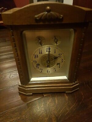 J Unghans Edwardian style Mantle/Bracket Clock