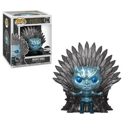Funko Pop Hbo Exclusive Game Of Thrones Metallic Night King On Throne #74 GOT