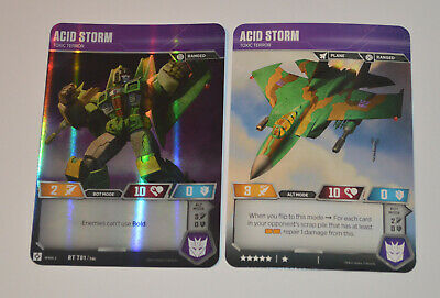 Transformers TCG Rise of the Combiners Acid Storm #RT T01 Rare Character Card