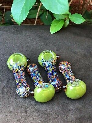 """4"""" inch Gorgeous  Color TOBACCO Smoking Herb Glass Pipe bowl Glass Hand Pipes"""