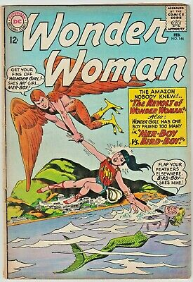 WONDER WOMAN #144 - EARLY SILVER AGE ISSUE From 1964 - REVOLT OF WONDER WOMAN