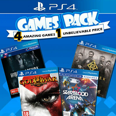 PS4 Games Bundle Sony Playstation 4 Game God of War Hidden Agenda Starblood VR