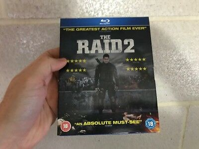 The Raid 2 (Blu-ray) with Rare UK SLIPCOVER, SOLD OUT OOP/OOS VHTF Blu-ray !