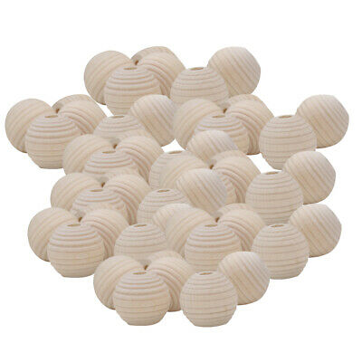 50pcs Natural Wood Bead Beehive Shape DIY Kids Teethering Home Jewelry Party