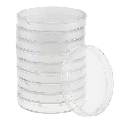10pcs 19mm Clear Round Cases Coin Storage Capsules Holder Round Plastic OS
