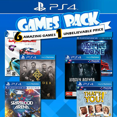 PS4 6 Games Bundle Sony Playstation 4 Game PS Starblood Arena Battlezone Wipeout