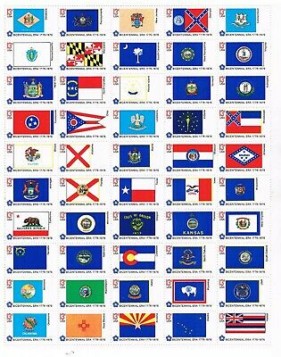 Mint Sheet of 50 US State Flags