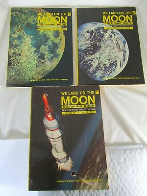 VINTAGE APOLLO MAN On The Moon Coloring Book - $5 00 | PicClick