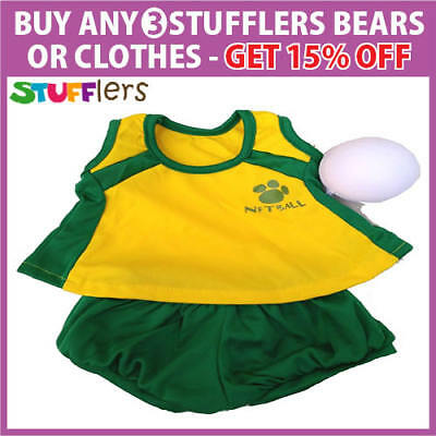 Netball Clothing Outfit by Stufflers – Fits Medium 40cm Plush Toy