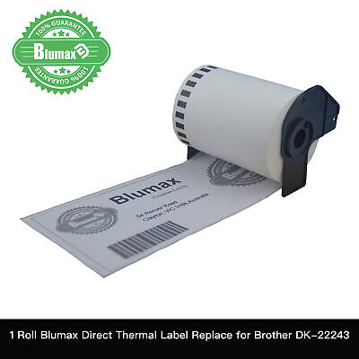 1 Blumax Compatible Brother for DK22243 Continuous Roll-102mmx30.45m QL1060N