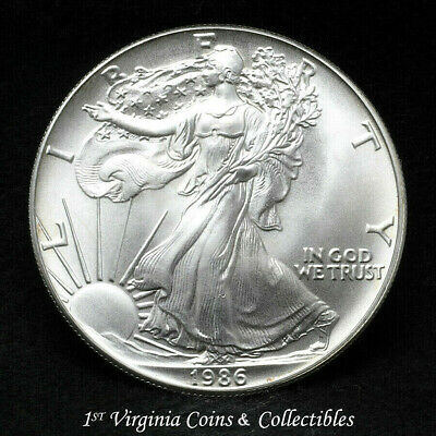1986 American Silver Eagle - NEAR FLAWLESS SILVER EAGLE Expect The Best !! A376