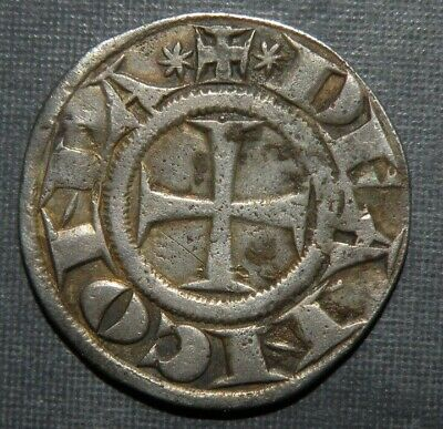 Medieval Silver Coin 11th Century Crusader Templar Cross Rare Ancient Antique