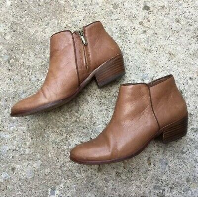 7a23c12536d8 SAM EDELMAN BOOTIES Petty Chelsea Ankle Boots Deep Brown Saddle ...