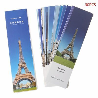 30Pcs/set Travel Style Collection Bookmark Paper Bookmarks Boxed Bookmark Gifts