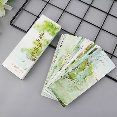 30pcs Vintage Chinese Style Painting Cards Paper Bookmarks Retro Boxed Bookmark