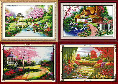 Joy Sunday Sunflowers Garden Counted Cross Stitch Kit 14CT 27 19in Embroidery