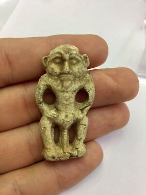 Egyptian Faience Statue Amulet Old Ancient Antique Collection Decor Piece