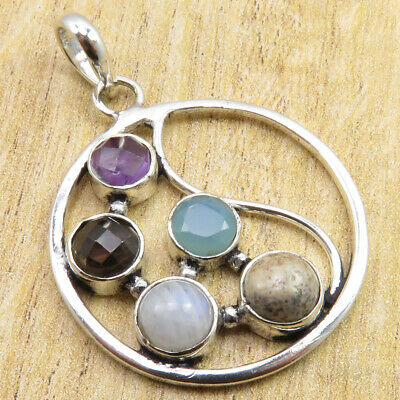 Jewelry & Watches 5 Gemset High Quality Pendant 925 Silver Plated RAINBOW MOONSTONE ART Jewelry Fashion Rings