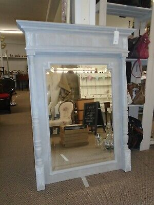 A Stunning Huge French Antique Mirror Professionally Painted