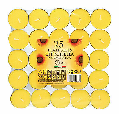 Citronella Tealight Candles Mosquito Fly Insect Repeller Prices 25 Pack Scented