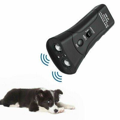 Anti Dog Barking Pet Trainer LED Light Ultrasonic Gentle Chaser Petgentle Style~