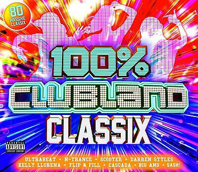 100% CLUBLAND CLASSIX (Various Artists) 4 CD Set (2019) (New & Sealed)
