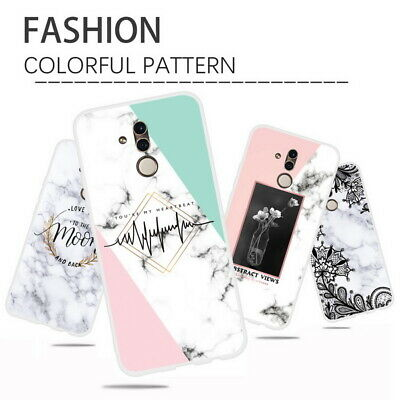 Marble Flower Matte Soft Case Cover For Huawei Mate 20 10 Lite P Smart Plus 2019